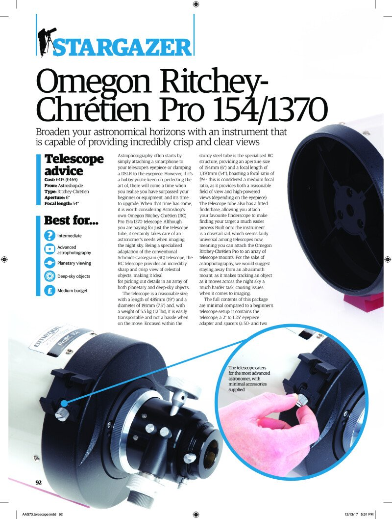 Omegon RC Pro 154/1370