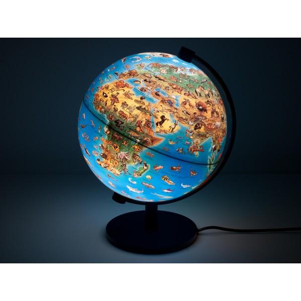 Stellanova Globus 28cm Kinderglobus Leuchtglobus beleuchtet Urzeit  Dinosaurier