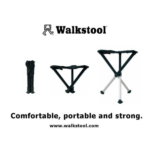 Peachy Walkstool Comfort 75 Folding Stool Black Squirreltailoven Fun Painted Chair Ideas Images Squirreltailovenorg