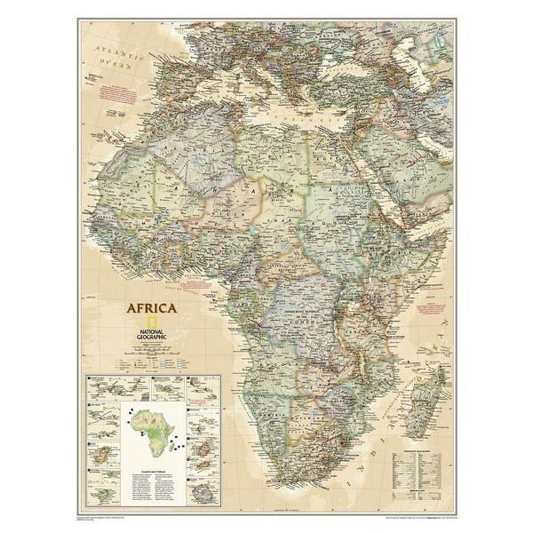 Karte Afrika.National Geographic Kontinent Karte Afrika