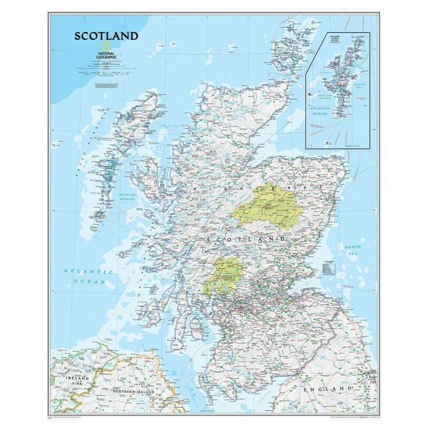 National Geographic Landkaart Schotland