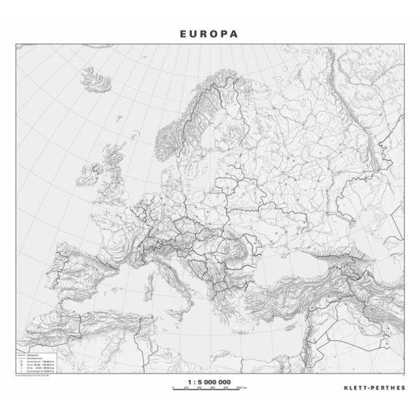Klett Perthes Verlag Kontinent Karte Europa Politisch Stumm Abw