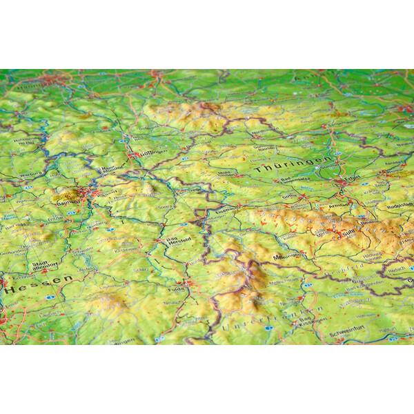 deutschland 3d karte Georelief Landkarte Deutschland groß, 3D Reliefkarte