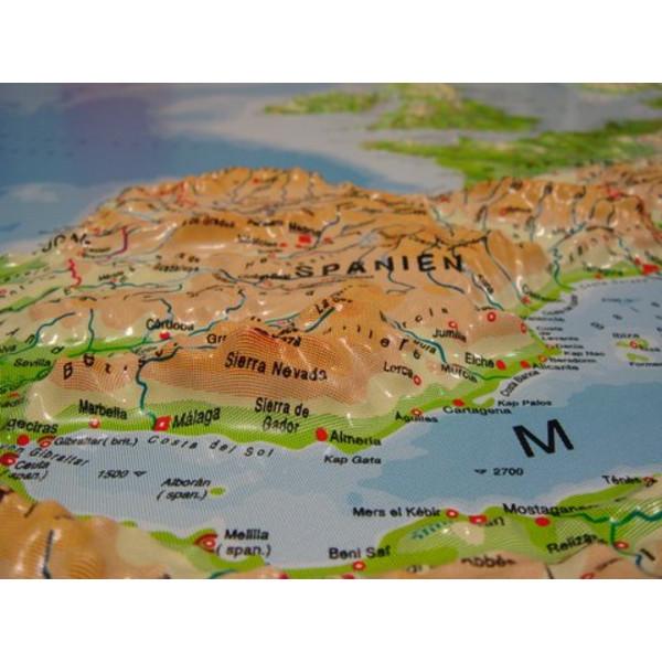 Europa Karte Physisch.Geo Institut Kontinent Karte Reliefkarte Europa Silver Line Physisch