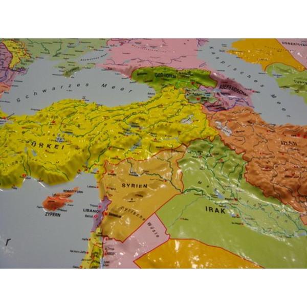 Cartina Del Mondo On Line.Geo Institut Mappa Del Mondo Planisfero Carta Politica In Rilievo Silver Line Russo