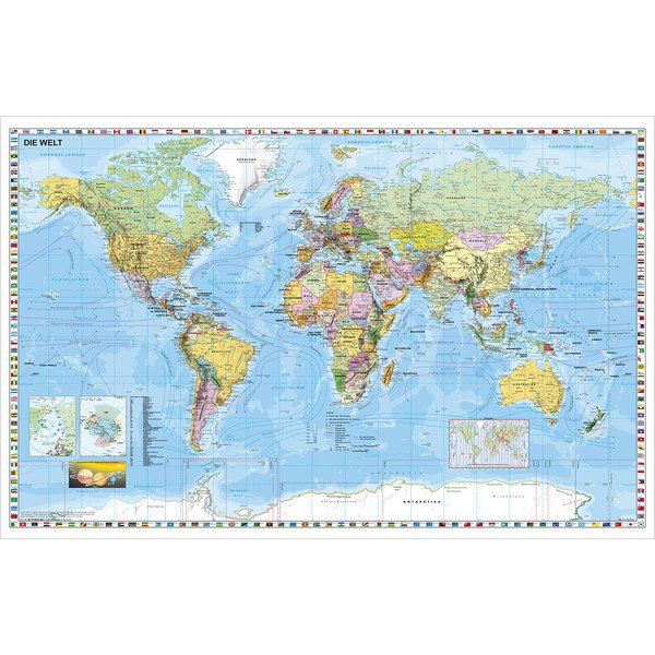 Stiefel World map Poster - large format, can be written on ...