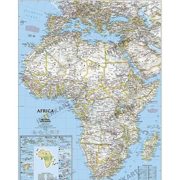 Karte Afrika.National Geographic Kontinent Karte Afrika Politisch Gross
