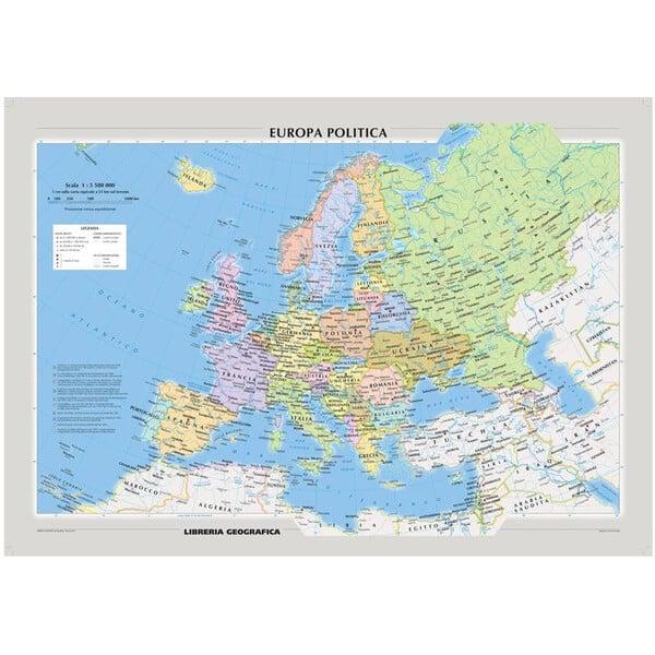 Cartina Europa.Libreria Geografica Mappa Continentale Europa Fisica E Politica