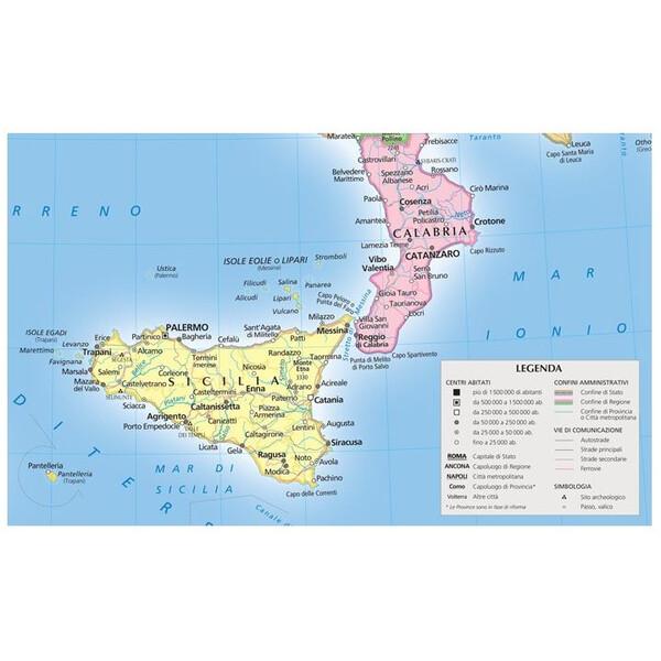 Cartina Italia Con Legenda.Libreria Geografica Mappa Italia Fisica E Politica