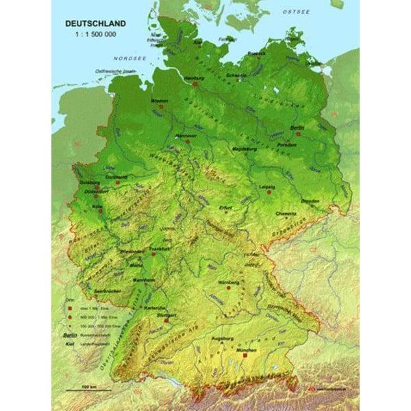 karte deutsche gebirge MBM Systems Landkarte Echt 3D Karte Deutschland