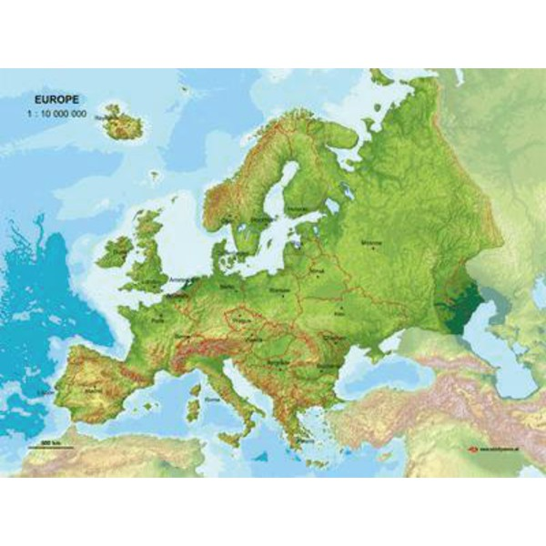 Mbm Systems Harta Continent Hartă 3d Europa