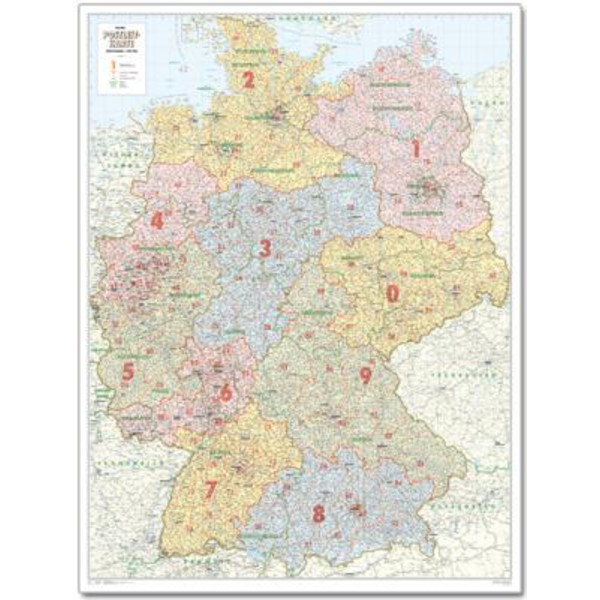 Postleitzahlen Karte.Bacher Verlag Postleitzahlenkarte Deutschland Groß