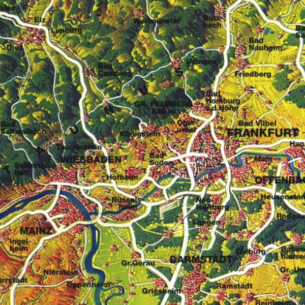 Bacher Verlag Harta Panoramă Mare Original Mair Germania