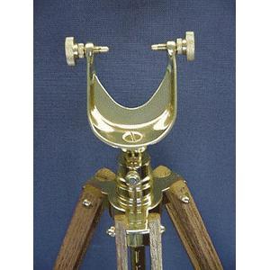 The Glass Eye Cape-Cod ottone, treppiede in Mahagoni