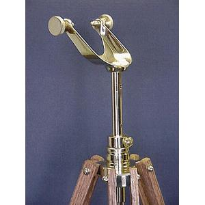 The Glass Eye Cape Cod Brass Tripod made of Oak