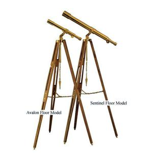 The Glass Eye Avalon All Brass Tripod made of Teak