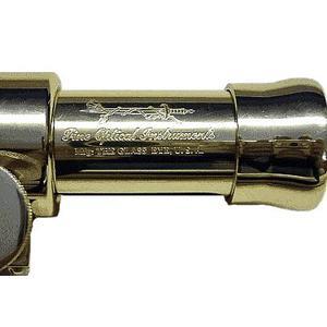 The Glass Eye Trípode Avalon All Brass, de madera de teca