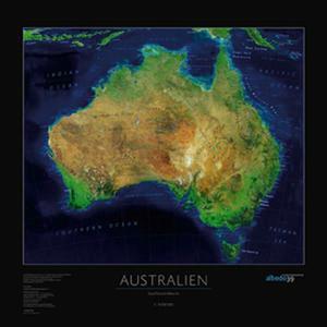 albedo 39 Continent map Australia