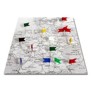 20 banderas marcadoras, con superficie apta para escribir, diferentes colores