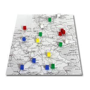 Epingles de repérage pyramidales, 20 pièces, couleurs variées