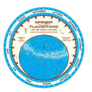 Omegon Star chart Planisphere