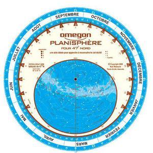 Omegon Sternkarte Planisphère du ciel 25cm / 47°