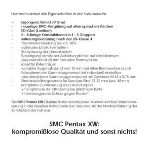 "Pentax Okular SMC XW 20mm 1,25"""