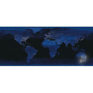 Palazzi Verlag Poster Erde bei Nacht Leinwandprint