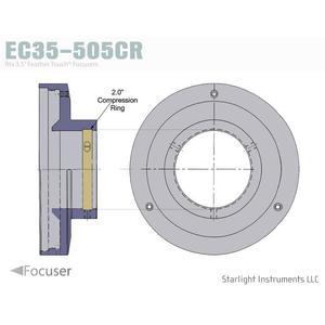 """Starlight Instruments Tapa de 3,5"""" con anillo de compresión"""