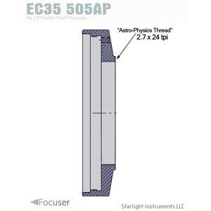 "Starlight Instruments Tapa 3.5"" - 2.7"" x 24 tpi soporte hembra"