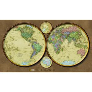 National Geographic Mappa dell'esploratore - Emisferi del mondo