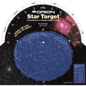 Orion Mapa estelar Star Target Planisphere 30-50 degree north