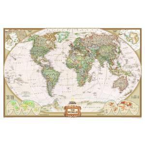 National Geographic Mappemonde politique Antique , très grand format