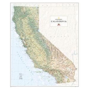 National Geographic Mappa Regionale California