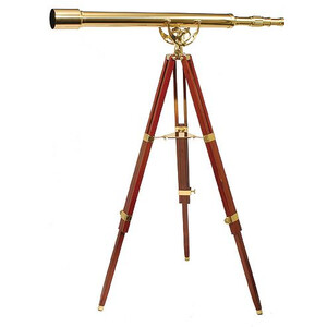 Omegon Telescópio de latão MT 60/1000 28x