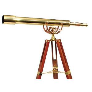 Omegon Telescopio de latón MT 80/1000 28x