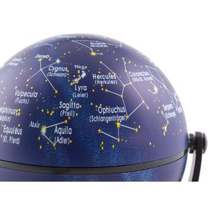 Stellanova Mini-Globus Dreh-Schwenk Globus Sternenhimmel mit IQ-Quiz 10cm