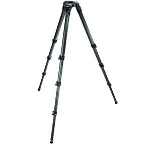 Manfrotto Treppiede Carbonio 536 MPRO treppiedi video con culla 75/100mml, monotubo, gambe telescopiche a tre sezioni