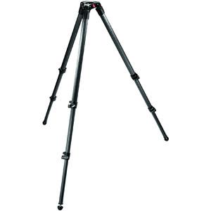 Manfrotto 535 MPRO treppiede video con culla 75mm, monotubo, gambe telescopiche
