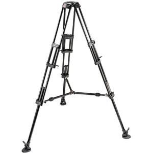Manfrotto Treppiede Aluminio Video-Pro treppiedi con culla 100mm e half-shell e crociera di bloccaggio 545B