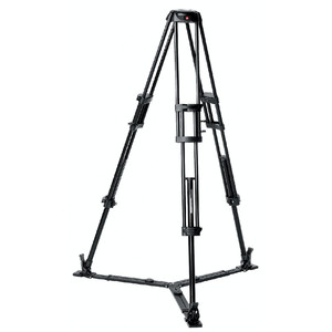 Manfrotto Treppiede Aluminio Treppiedi Video-Pro 545GB con culla 100mm e  ground spreader