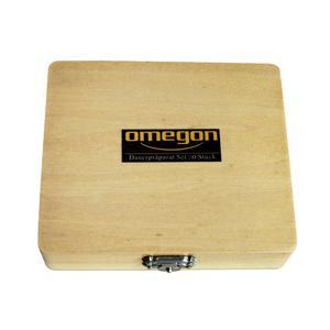 Omegon - Coffret en bois avec 20 lames préparées