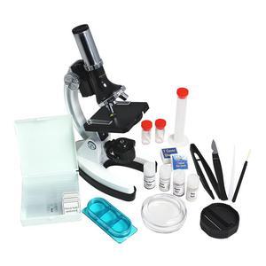 Omegon MonoView Juego de microscopio 1200x con libro incluido