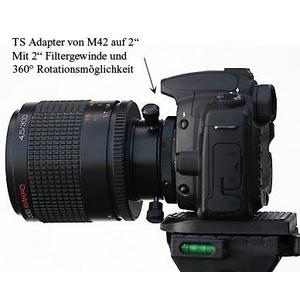 TS Optics Sistema di rotazione filettatura SC femmina (lato telescopio) su maschio T2 (lato fotocamera)
