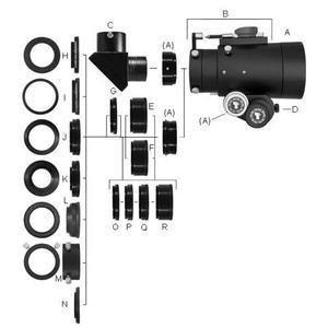 TeleVue Manguito de extensión Anillo Imaging System 12,7mm