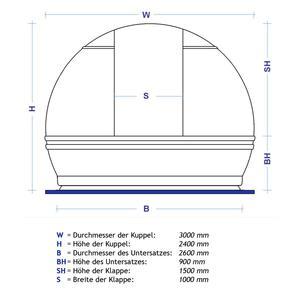 ScopeDome Cúpula de observatorio V3 de 3 m de diámetro