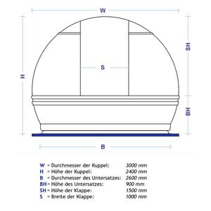 ScopeDome V3, 3m diameter observatory dome
