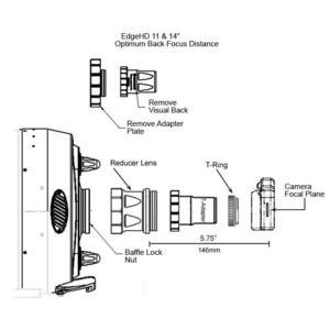 Adaptateurs Celestron Adaptateur T pour EdgeHD 229 mm/ 279 mm/ 356 mm