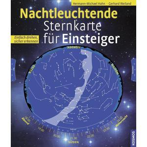 Kosmos Verlag Nachtleuchtende Sternkarte für Einsteiger