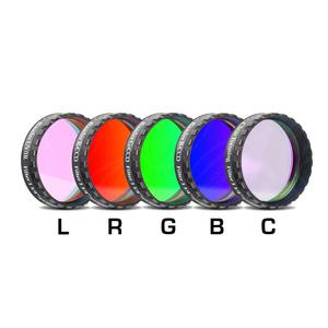 """Baader LRGBC-H-alpha 7nm, OIII und SII 1,25"""" Filterset"""
